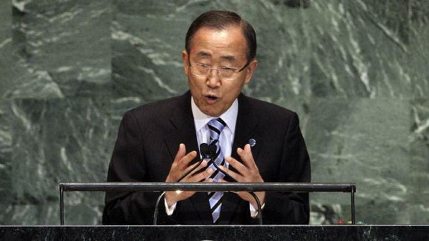 U.N. secretary general demands action in war-torn country