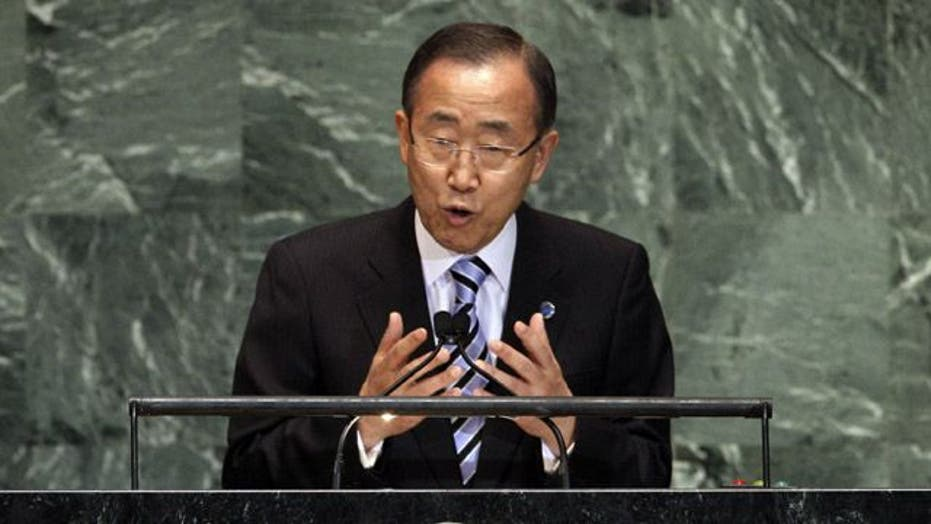 Ban Ki-moon: Flow of arms to both sides in Syria must stop