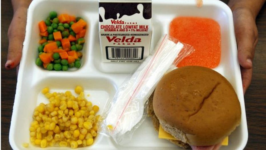 High school students protest calorie cuts in school lunches