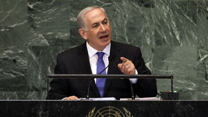 Prime Minister Benjamin Netanyahu calls on world leaders to stop Iran's nuclear weapons program