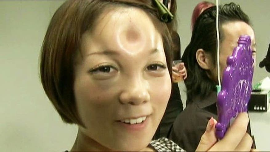 Saline injected into foreheads in Tokyo