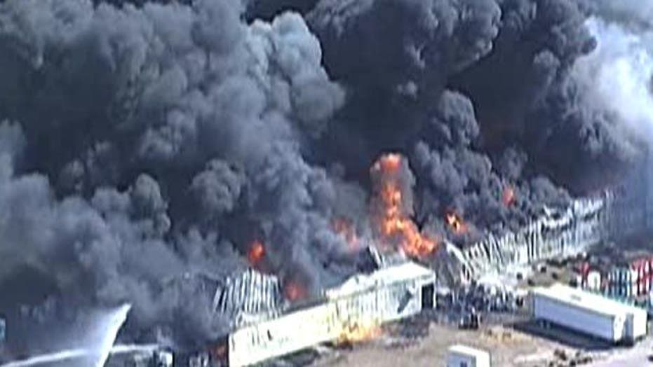 Massive Chemical Plant Fire in Texas