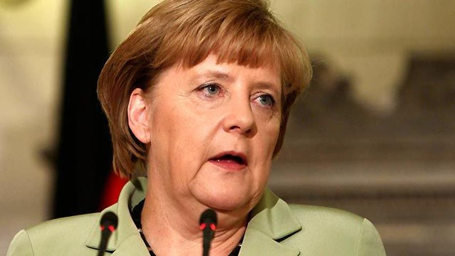 Not so warm welcome for German leader in Greece