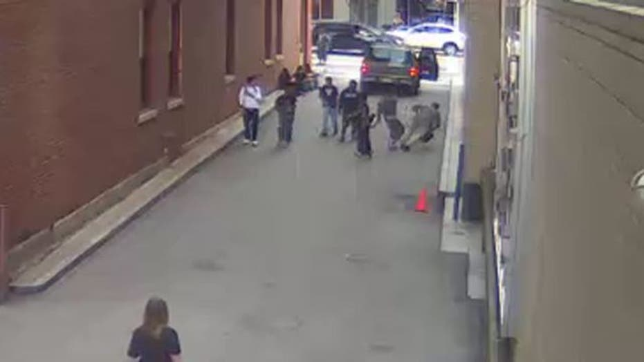 Teen sucker punches teacher in alley