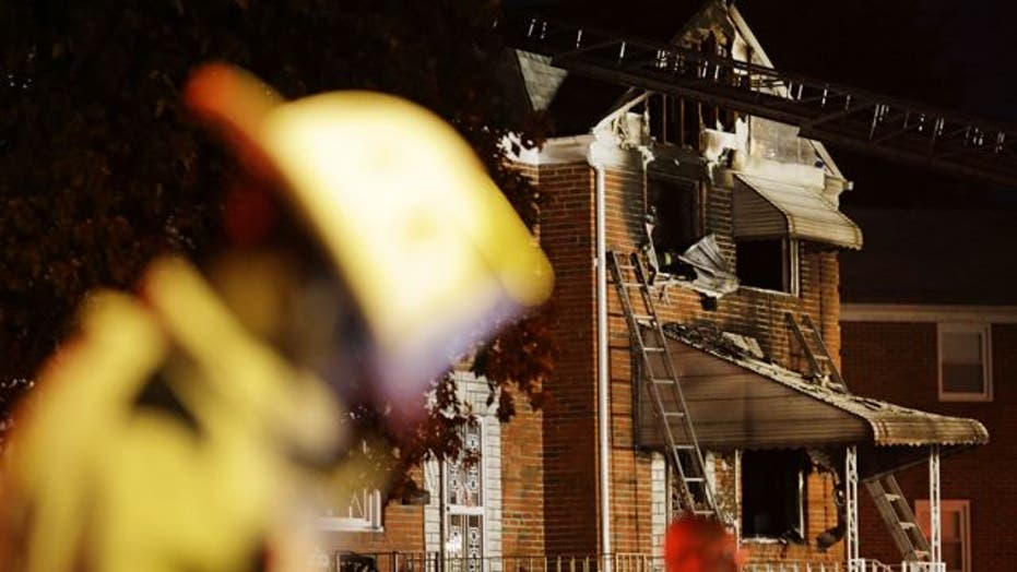 Across America: Blaze rips through Baltimore home, killing 5