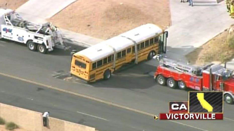 Across America: School bus, truck collide in California