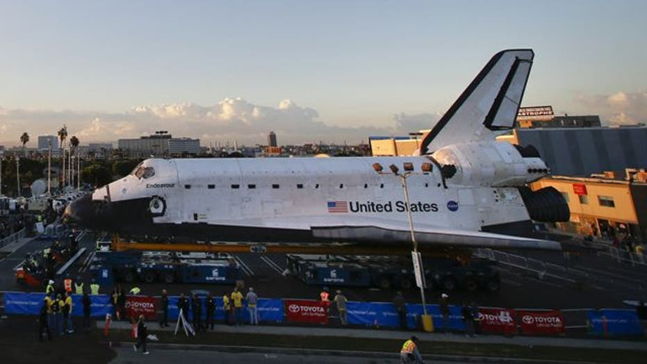 Space Shuttle Endeavour on the move to new home in L.A.