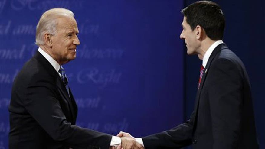 Biden, Ryan square off in their one and only debate