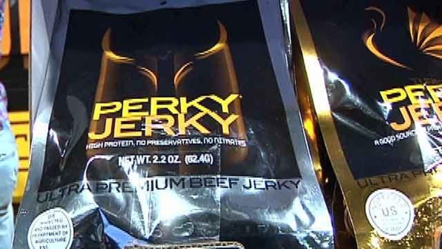 Companies showcase energy-filled jerky and candy at the annual National Association of Convenience Stores Expo in Vegas.