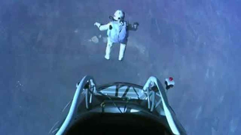 Skydiver breaks sound barrier, free-falls from space