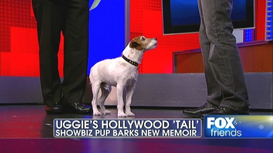 Famous show biz dog from the movie the artist and his owner write new book entitled Uggie.