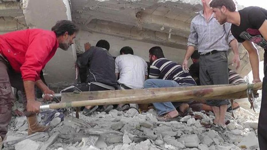 Airstrikes in northern Syria kill at least 43