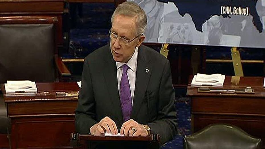 Reid: Private Sector Jobs 'Doing Just Fine'