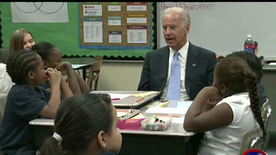 Biden Pitches Jobs Plan to 4th Graders