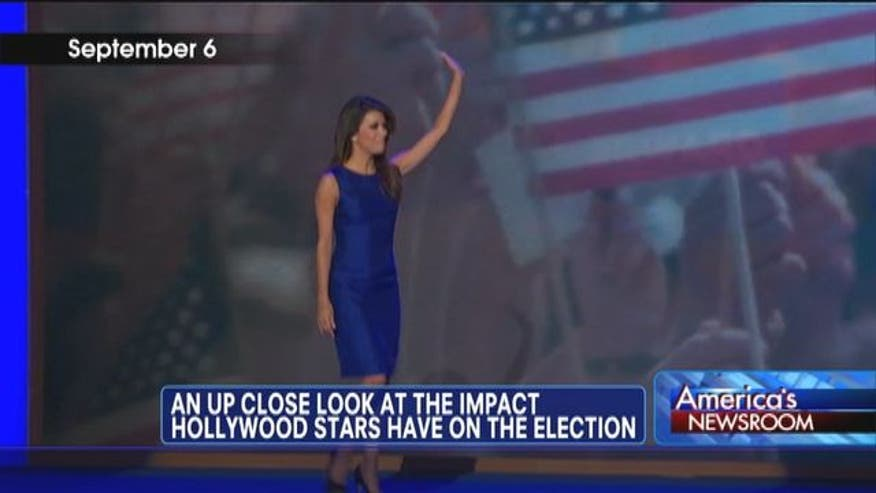 An up close look at the impact Hollywood stars have on the election.