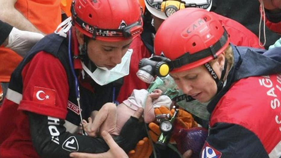 Two-Week-Old, Mother Rescued From Rubble in Turkey