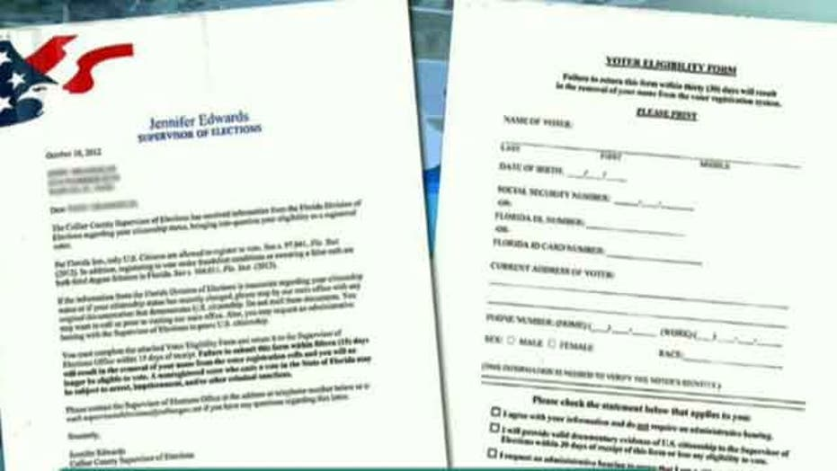 Phony letters question citizenship of voters in Fla.