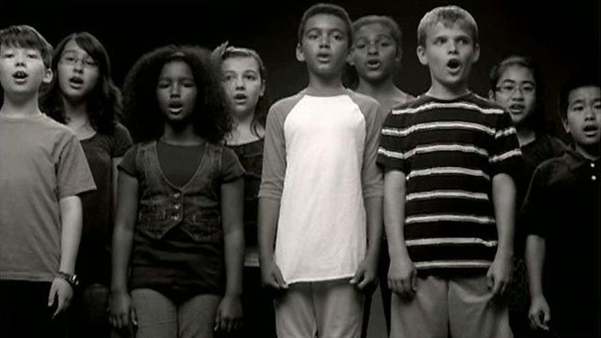 Kids sing for Obama's reelection in controversial campaign ad