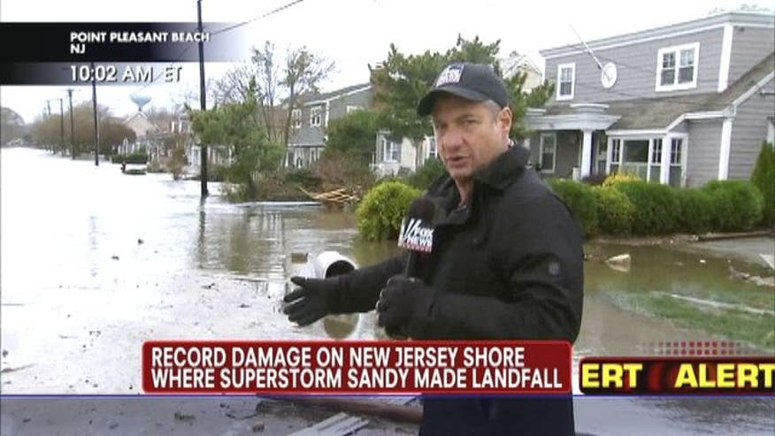 Record damage on New Jersey Shore where superstorm Sandy made landfall.