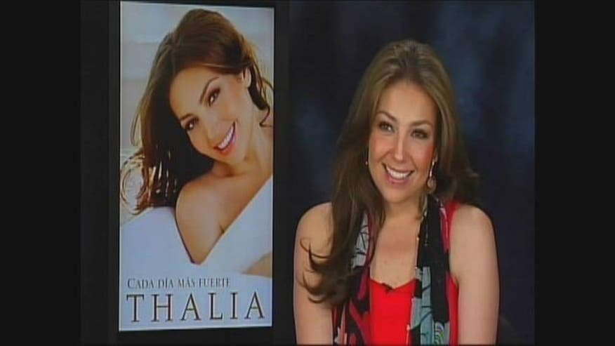 """Thalia shares the hardships of her life that have made her stronger and led her to write her first book """"Cada dia mas fuerte."""""""