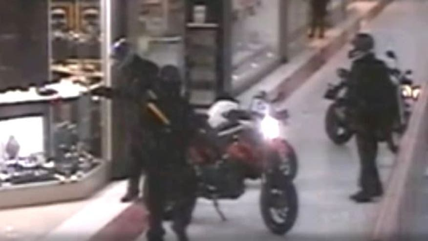 Armed men use motorcycles for fast getaway in London