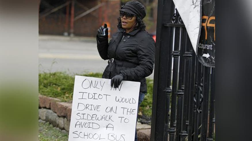 Judge orders public humiliation for Ohio woman caught driving on sidewalk to avoid school bus