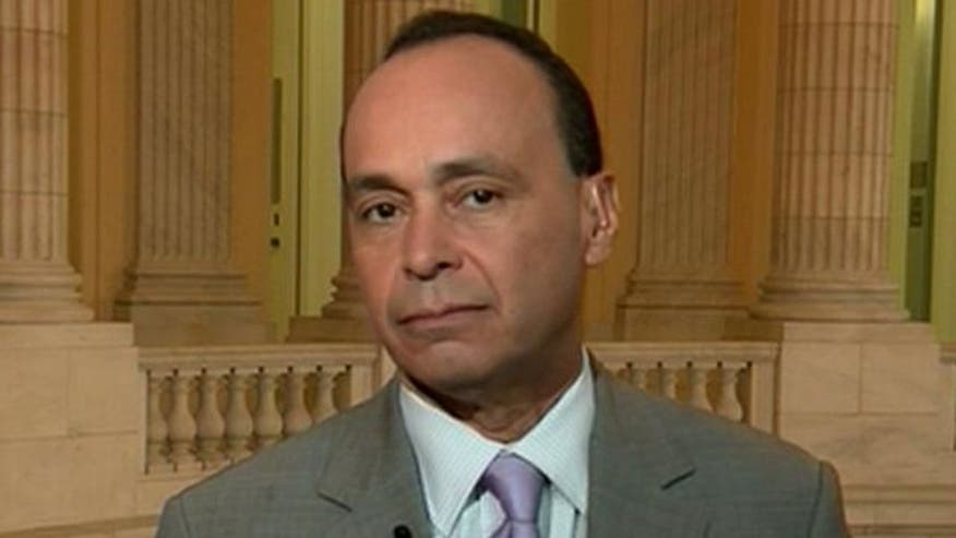 Rep. Luis Gutierrez (D-IL)  reacts