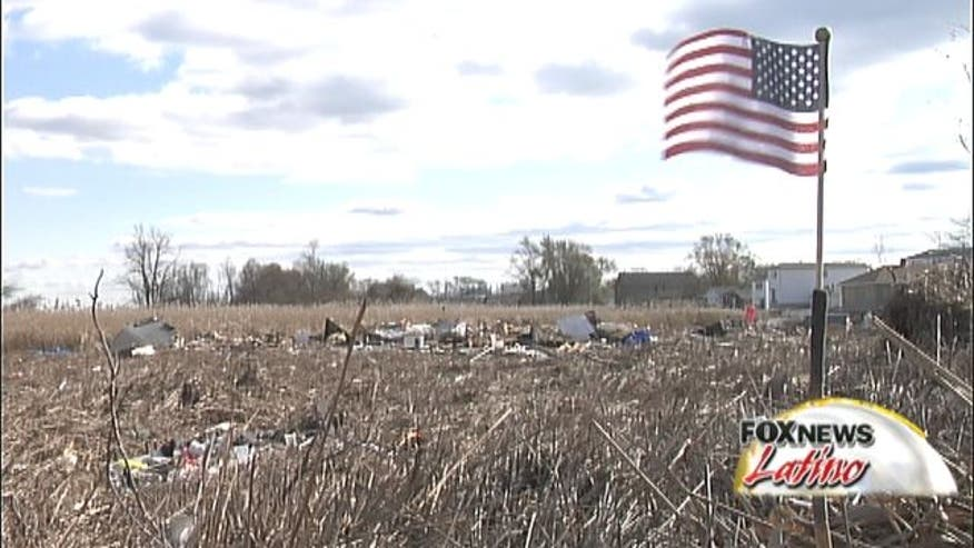 The American flag unites, brings hope to victims of Hurricane Sandy.