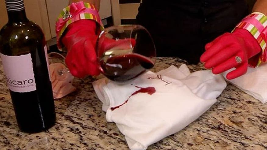 Julie Edelmann, also known as the Accidental Housewife, shows us a surprising secret for removing red wine stains from a white blouse.