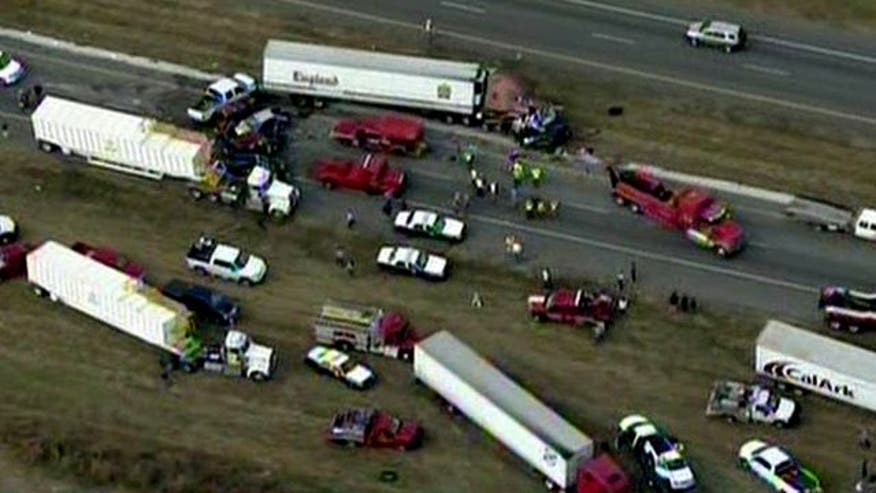 140 vehicles involved in crash