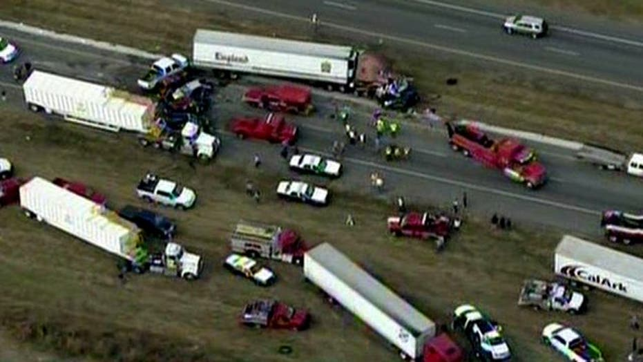More than 80 injured in massive pileup on Texas interstate
