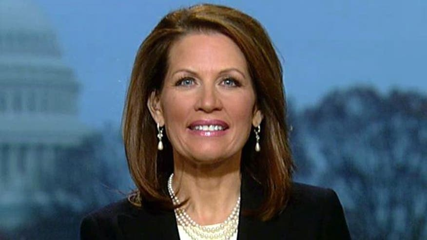 GOP presidential candidate Michele Bachmann talks foreign policy, wants apology from NBC