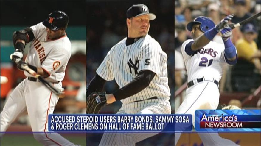 Controversy over whether players accused of doping should get in baseball hall of fame.