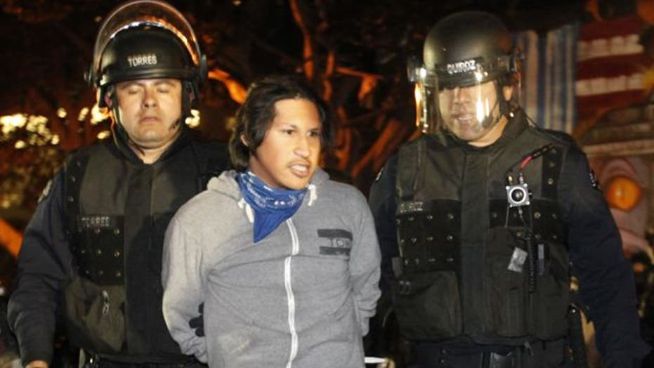 Massive Raid on 'Occupy L.A.' Protesters