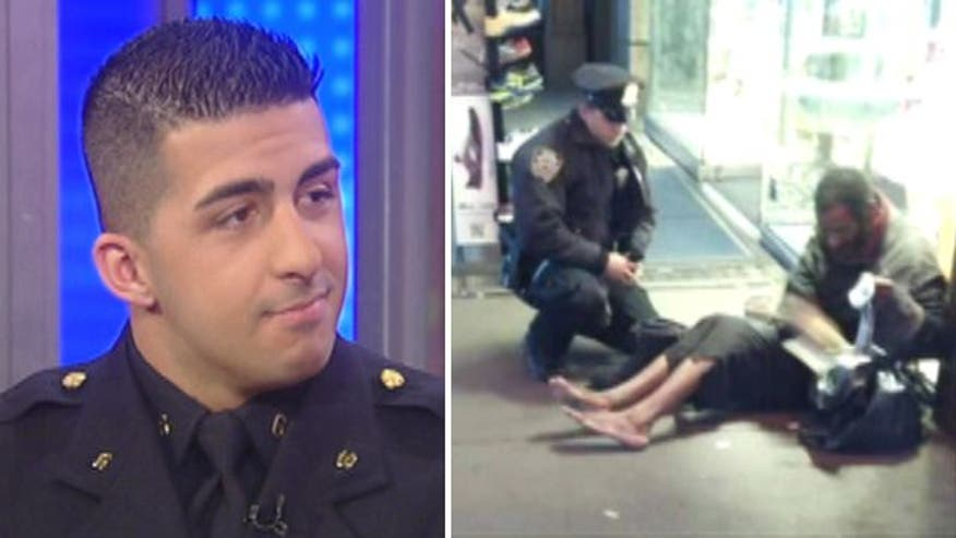 Cop snapped buying homeless man new boots