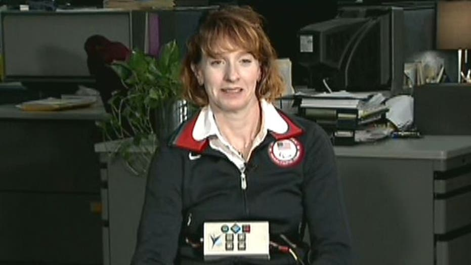 Paralympian able to stand with new technology