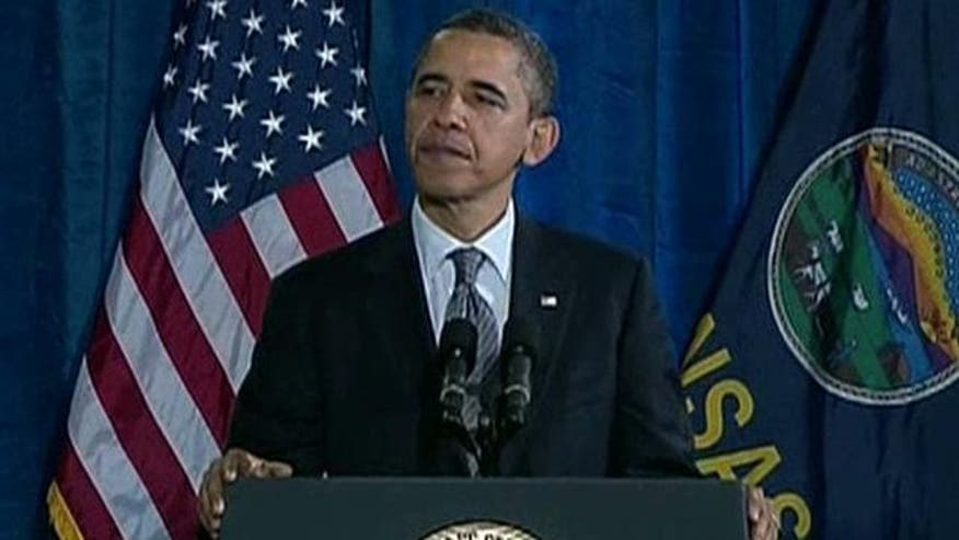 What was aim of Obama's address in Kansas?