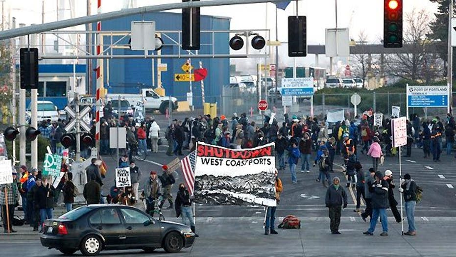 'Occupy' Protesters Shut Down Portland Port