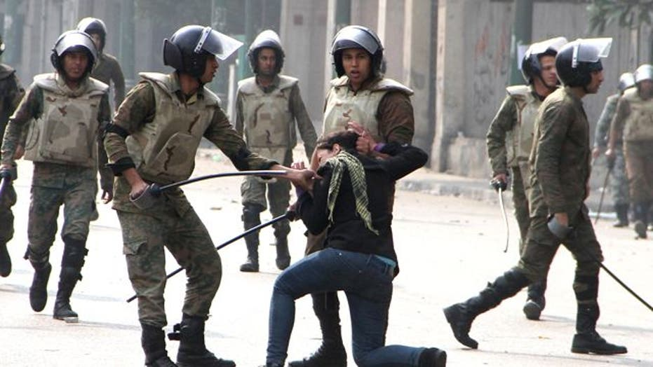 Savage Beating of Protesters by Egyptian Military Forces
