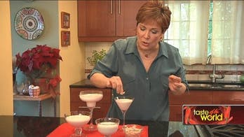 Taste of the World: Coconut Panna Cotta With Tropical Fruit Sauce by Denisse