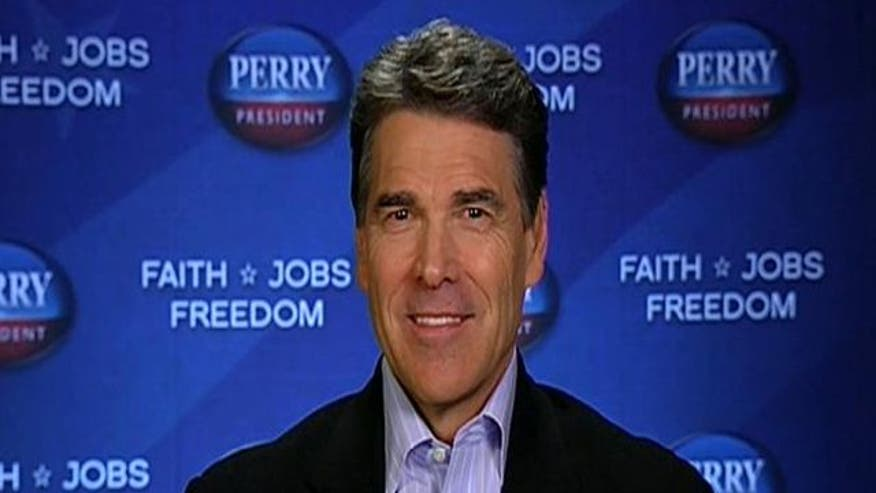 Gov. Rick Perry on his new attack ad that slams his fellow 2012 candidates as DC insiders